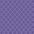 Ultra Violet Quatrefoil by Ashley Wann