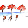 Umbrella By The Sea by Anna Elkins
