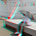 Umbrella Man - Use Red-cyan 3d Glasses by Brian Wallace