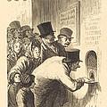 Un Guichet De Th??tre by Charles Maurand After Honor? Daumier