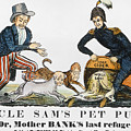 Uncle Sam: Cartoon, 1840 by Granger