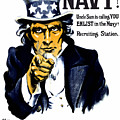 Uncle Sam Wants You In The Navy by War Is Hell Store