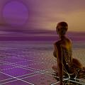 Under A Purple Moon by Sandra Bauser Digital Art