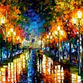 Under Brown Umbrella by Leonid Afremov
