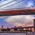 Under The Brooklyn Bridge - New York City by Joann Vitali
