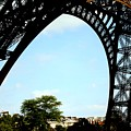 Under The Eiffel Tower by Chuck Kuhn