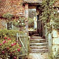 Under The Old Malthouse Hambledon Surrey by Helen Allingham