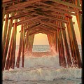 Under The Pier At Dawn by Betty Buller Whitehead