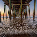 Under The Pier At Old Orchard Beach by Rick Berk