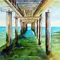 Under The Playa Paraiso Pier by Carlin Blahnik CarlinArtWatercolor