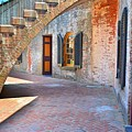 Under The Stairs At Fort Macon  by Lisa Wooten