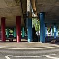 Under The Viaduct A Panoramic Urban View by Jacek Wojnarowski