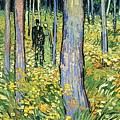 Undergrowth With Two Figures by Van Gogh