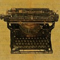Underwood Typewriter On Text by Dan Sproul