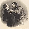 Une Visite Du 1er Janvier by Honor? Daumier