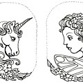 Unicorn And Fairy Cameo Set by Katherine Nutt