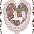 Unicorn In A Pink Heart by Lise Winne