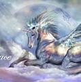 Unicorn Of Peace Card by Carol Cavalaris