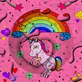 Unicorn Popart By Nico Bielow by Nico Bielow