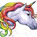 Unicorn With Rainbow Mane by Olga Shvartsur