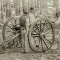 Union Cannon Civil War Sepia Version by Randy Steele
