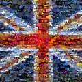 Union Jack Flag Mosaic by Paul Van Scott