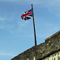 Union Jack Over The Castillo by D Hackett