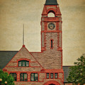 Union Pacific Railroad Depot Cheyenne Wyoming 01 Textured by Thomas Woolworth