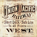 Union Pacific Railroad - Gateway To The West  1883 by Daniel Hagerman