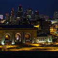 Union Station At Night by Carolyn Fox