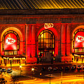 Union Station In Chiefs Red by Steven Bateson