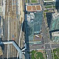 Union Station Train Yard Toronto From The Cn Tower by John Malone