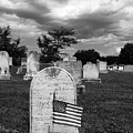 Uniontown Cemetery Maryland In Black And White by James Brunker