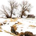 Uniontown Snow Scene by Marcia Darby