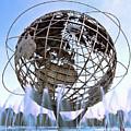 Unisphere With Fountains by Bob Slitzan