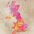United Kingdom Map by Justyna JBJart