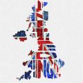 United Kingdom Typographic Kingdom by Inspirowl Design