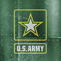 United States Army Logo On Green Steel Tank by Design Turnpike