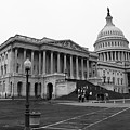 United States Capitol Building 2 Bw by Frank Romeo