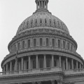 United States Capitol Building 3 Bw by Frank Romeo
