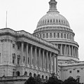 United States Capitol Building 4 Bw by Frank Romeo