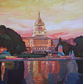 United States Capitol In Washington D.c. At Sunset by M Bleichner