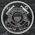 United States Coast Guard Emblem Polished Granite by Gary Whitton
