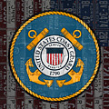 United States Coast Guard Logo Recycled Vintage License Plate Art by Design Turnpike