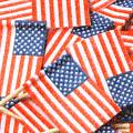 United States Flag Color Pencil by Jill Lang