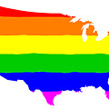 United States Gay Pride Flag by Bigalbaloo Stock