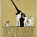 United States Navy Recruitment Poster From 1918 by Celestial Images