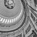 Unites States Capitol Rotunda Bw by Susan Candelario