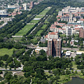 University Of Chicago Booth School Of Business And Midway Plaisance Park Aerial Photo by David Oppenheimer