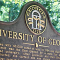 University Of Georgia Sign by Parker Cunningham